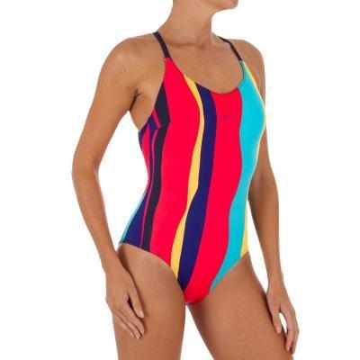 Modré jednodílné dámské plavky Nabaiji
