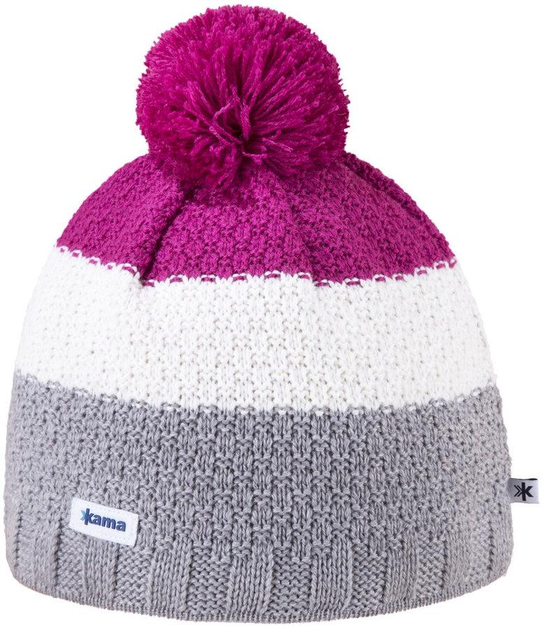 Různobarevná dámská zimní čepice Kama