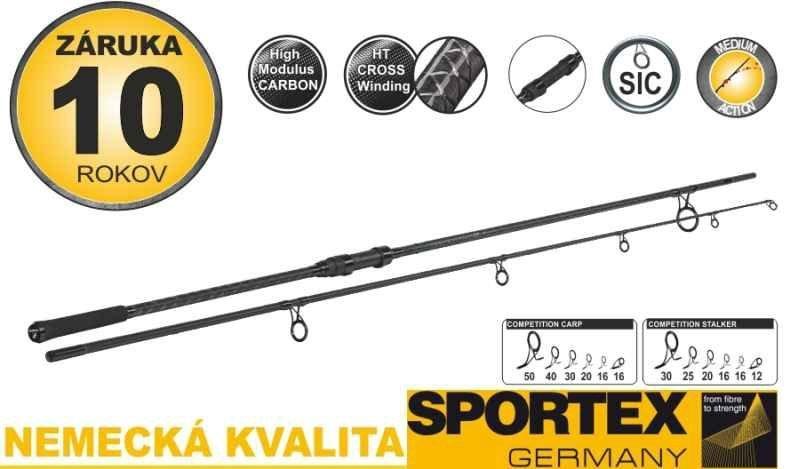 Dvoudílný kaprový prut Sportex - délka 366 cm