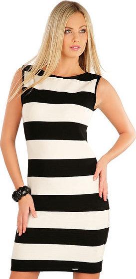 Bílo-černé dámské šaty Litex