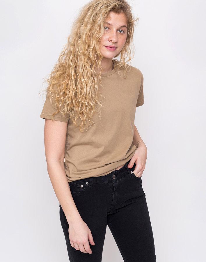 Khaki dámské tričko s krátkým rukávem Colorful Standard - velikost L