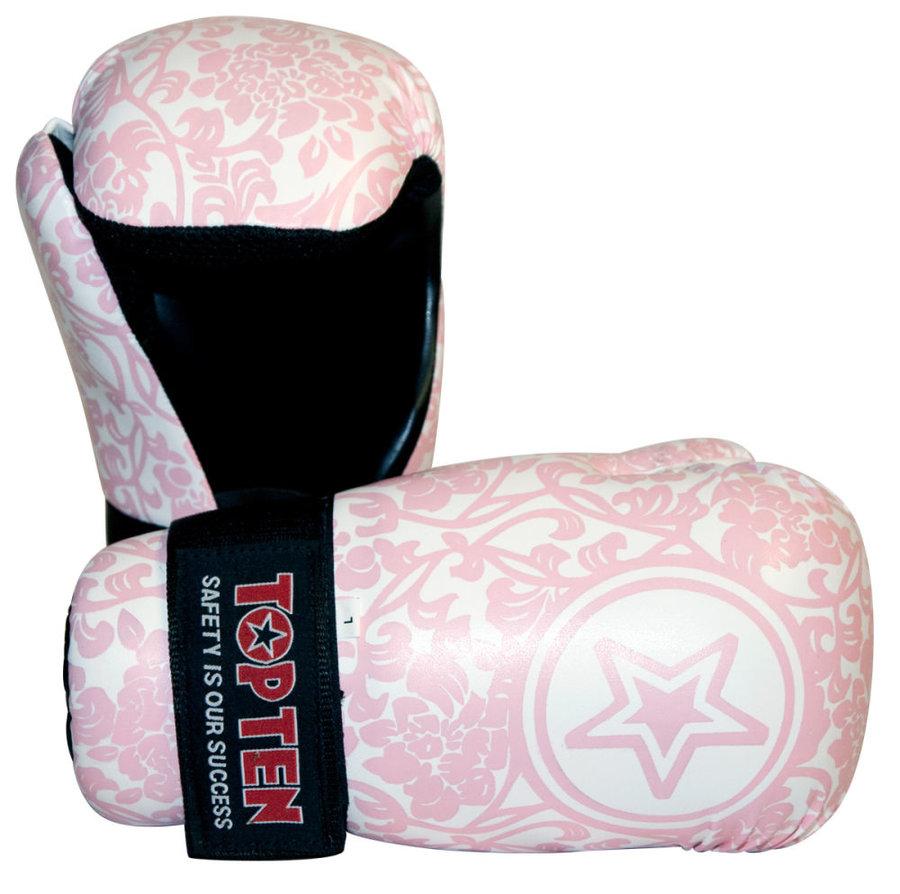 Růžová karate rukavice Top Ten - velikost L