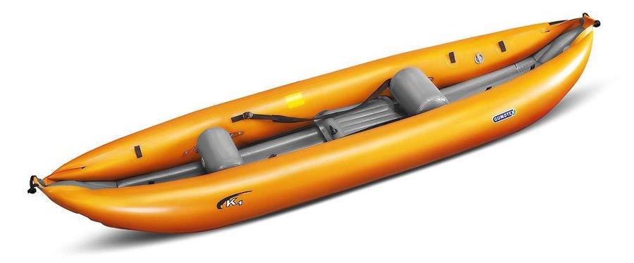 Oranžový nafukovací kajak pro 1 osobu K1, Gumotex