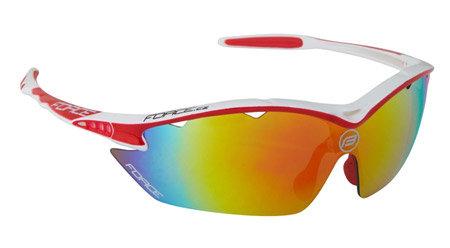 Bílo-červené cyklistické brýle RON, Force