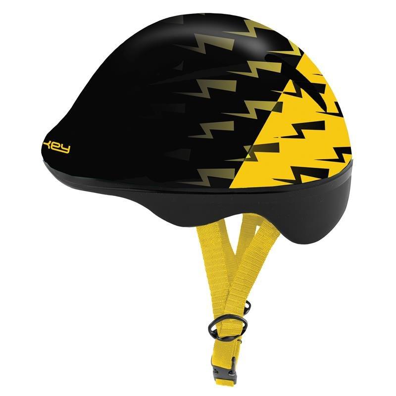 Černo-žlutá dětská cyklistická helma Spokey - velikost 49-56 cm