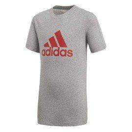 Šedé dětské tričko s krátkým rukávem Adidas