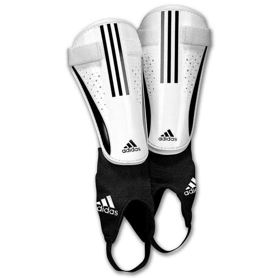 Bílé fotbalové chrániče holení 11Chrome, Adidas - velikost S