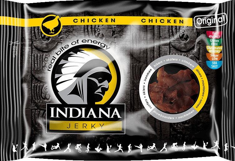 Sušené kuřecí maso - Sušené maso Indiana Jerky Kuřecí Original 100 g