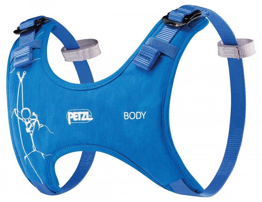 Modrý dětský horolezecký úvazek Petzl