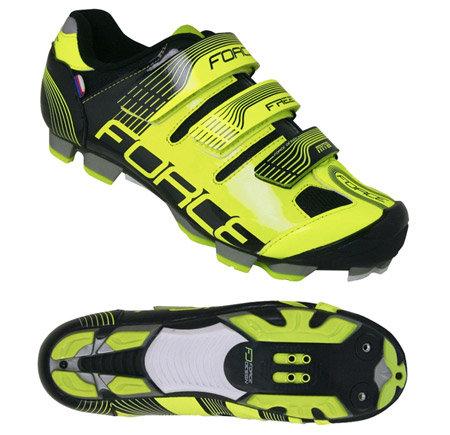 Černo-žluté cyklistické tretry MTB Free, Force