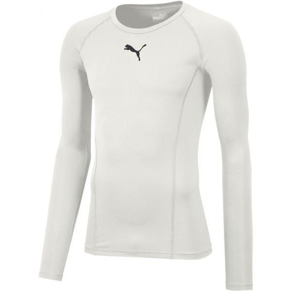 Bílé pánské funkční tričko s dlouhým rukávem Puma