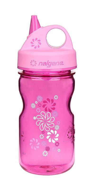 Růžová láhev na pití Grip 'n Gulp, Nalgene