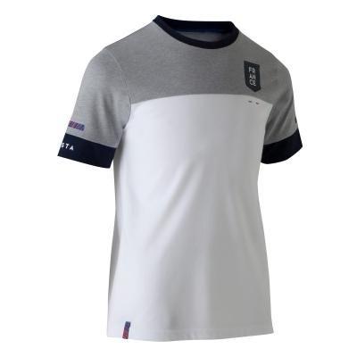 """Bílo-šedý dětský fotbalový dres """"Francouzská reprezentace"""", Kipsta"""