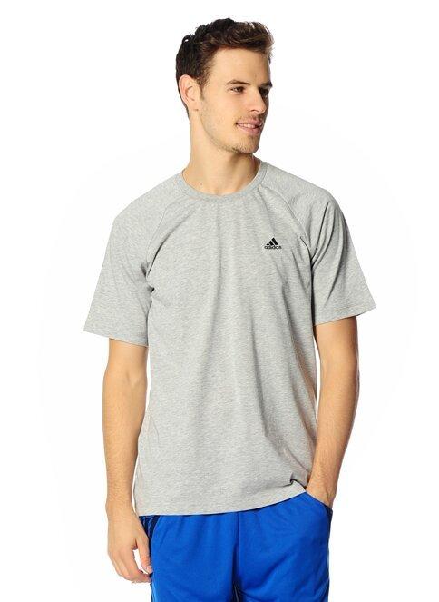 Šedé pánské tričko s krátkým rukávem Adidas - velikost S