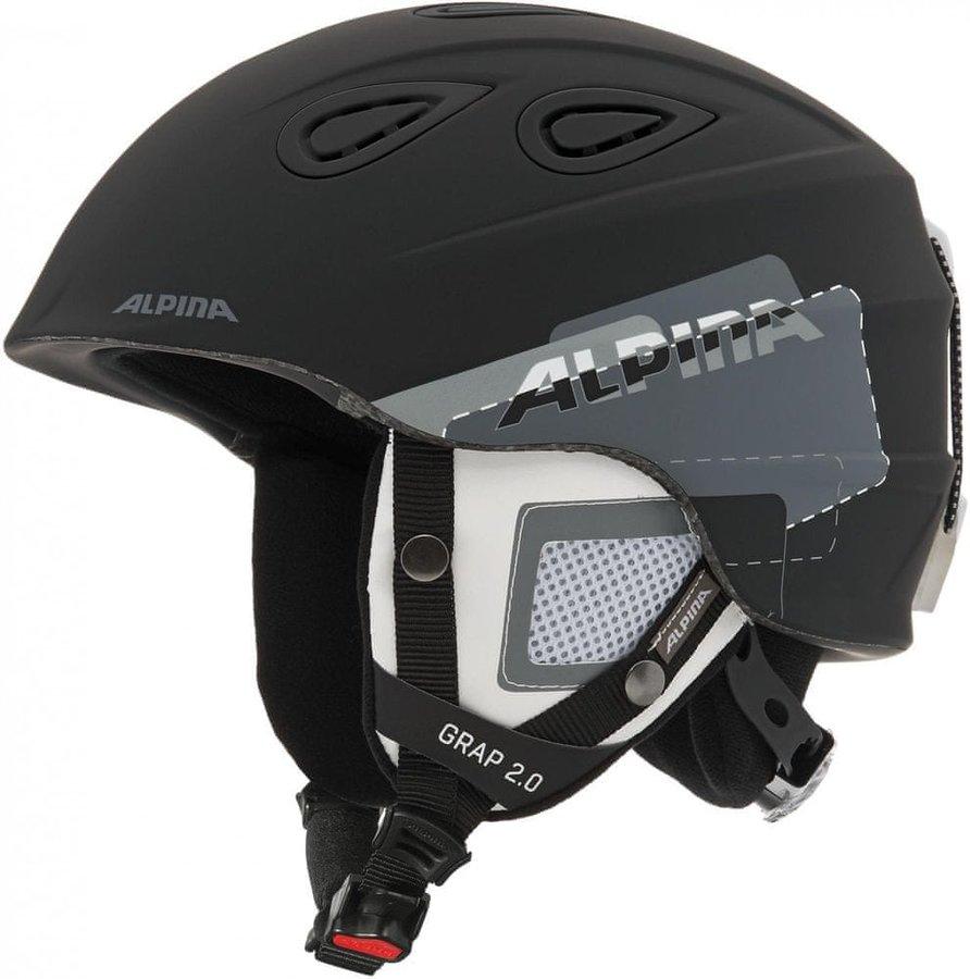 Černá lyžařská helma Alpina Sports - velikost 61-64 cm