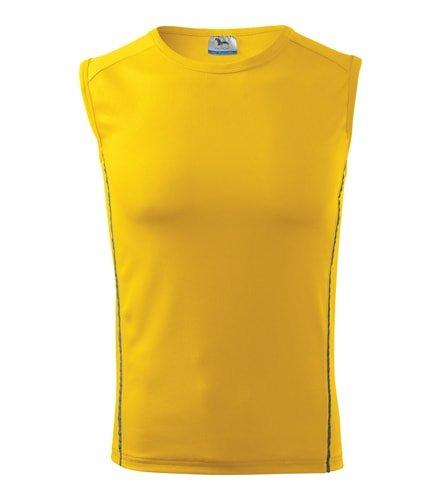 Žluté pánské tričko bez rukávů Adler - velikost XXL