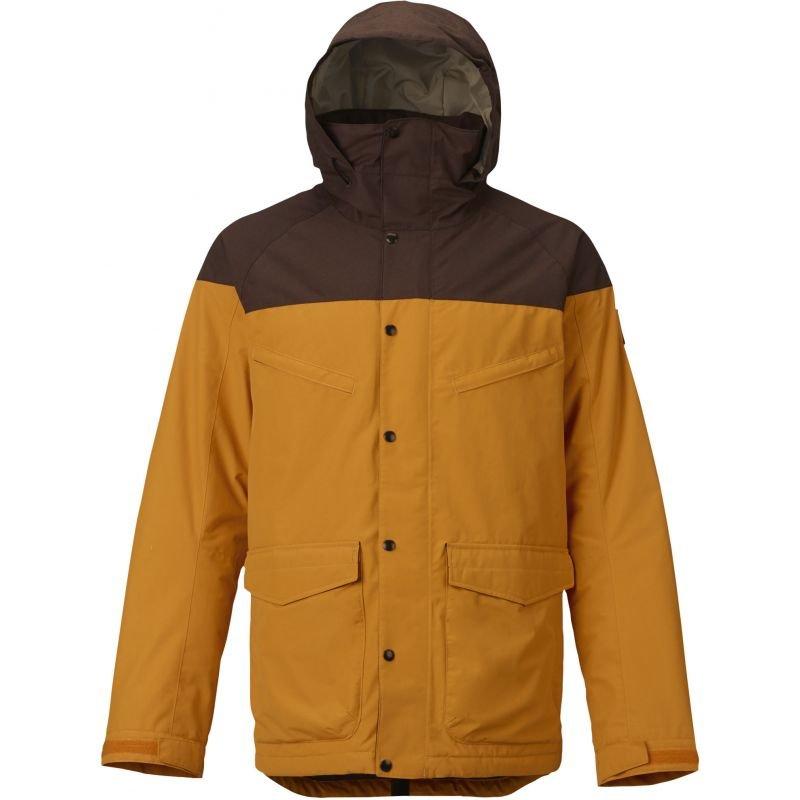 Hnědo-oranžová pánská snowboardová bunda Burton - velikost XL