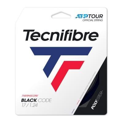 Černý tenisový výplet Black Code, Tecnifibre - průměr 1,24 mm