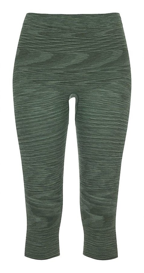 Zelené 3/4 dámské termo kalhoty Ortovox