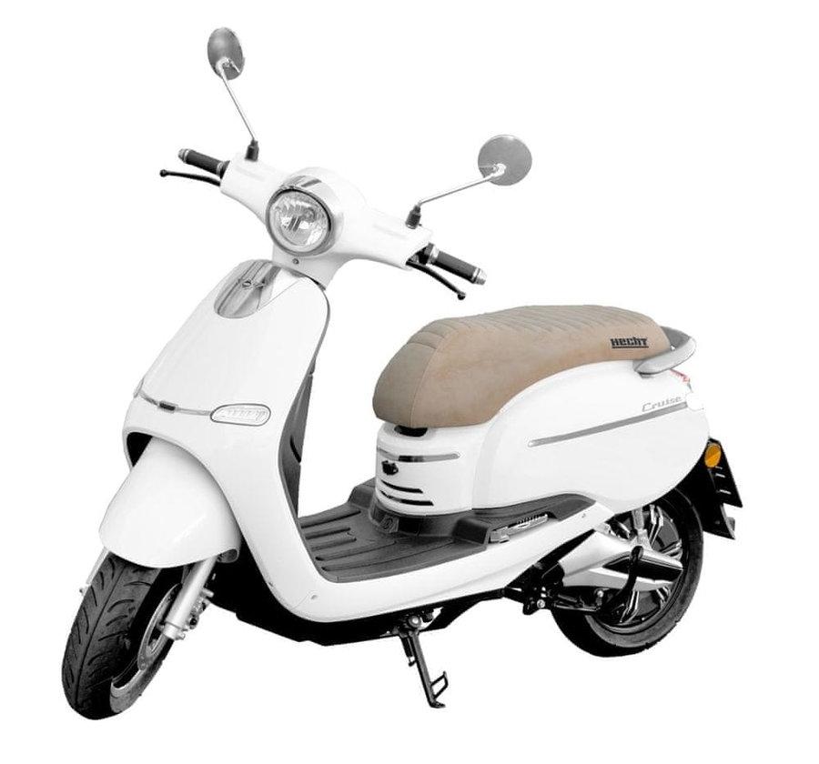Bílá elektrická motorka Citis, HECHT