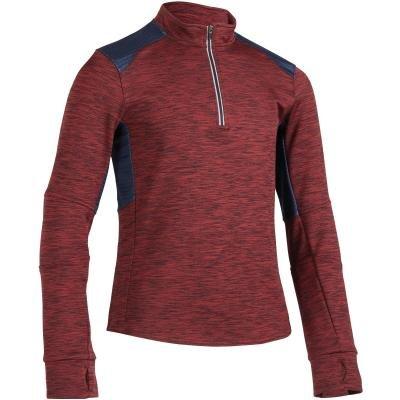 Černo-červené dětské jezdecké tričko Fouganza