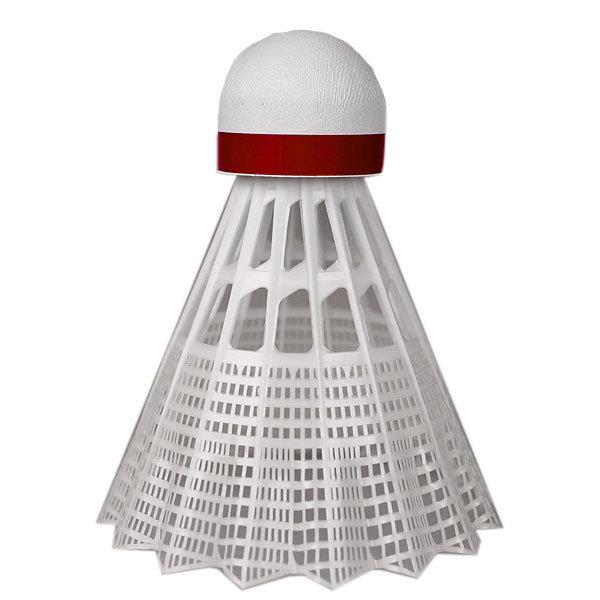 Bílý plastový badmintonový míček Yonex - 6 ks
