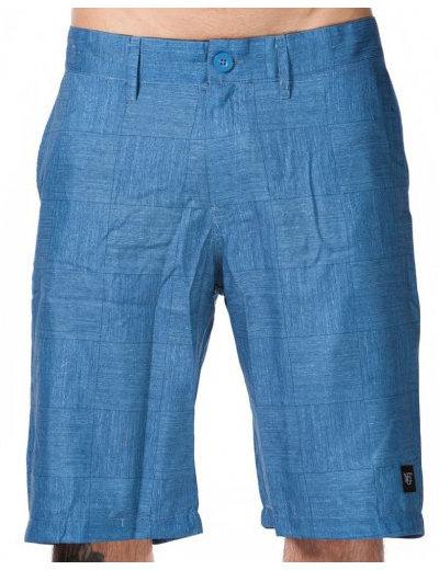 Modré pánské koupací kraťasy Thizz B-Blue Plaid, Nugget - velikost M