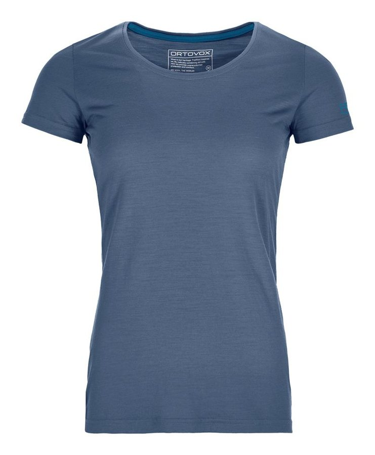 Modré dámské termo tričko s krátkým rukávem Ortovox - velikost XS