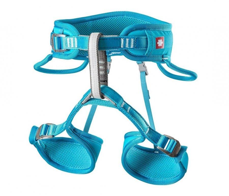 Modrý dětský horolezecký úvazek Ocún