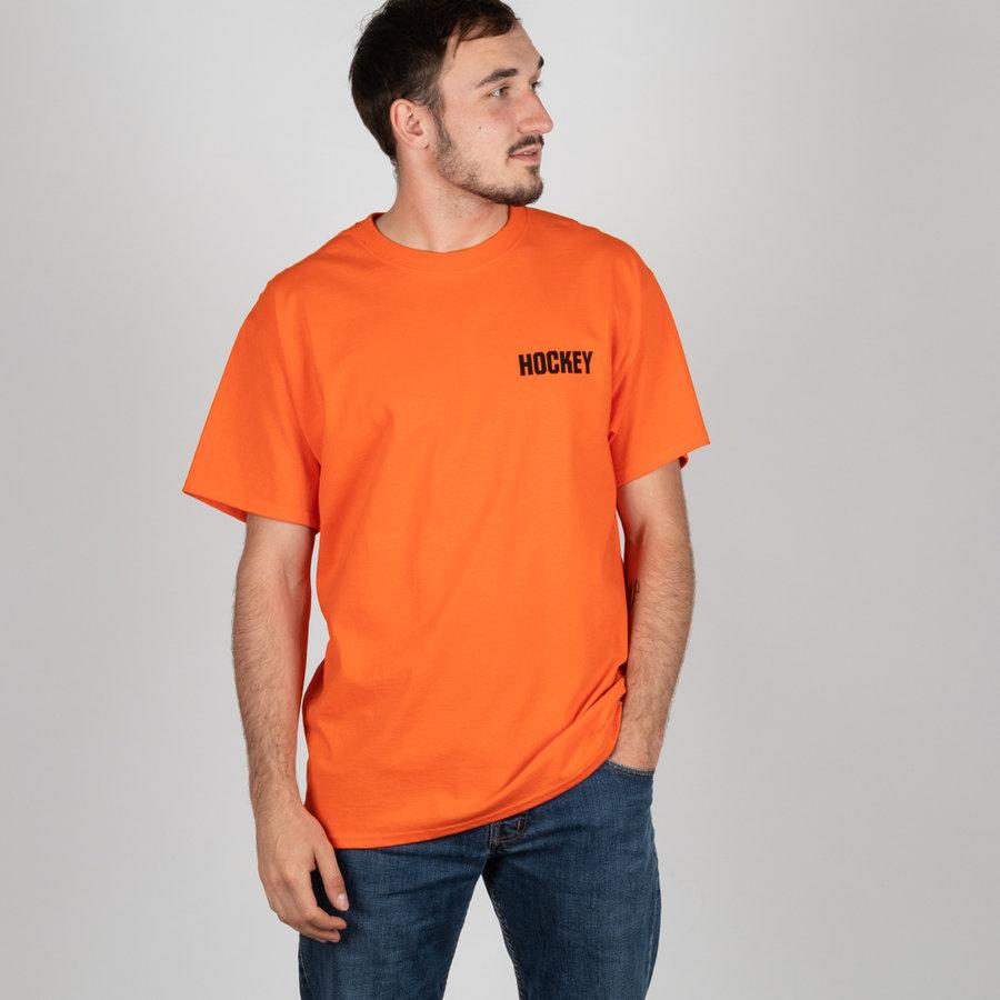 Oranžové pánské tričko s krátkým rukávem Hockey