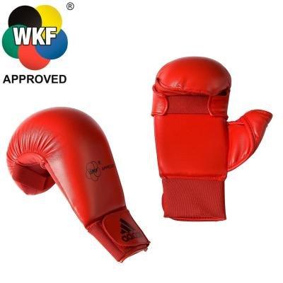Červená karate rukavice DOUBLE D