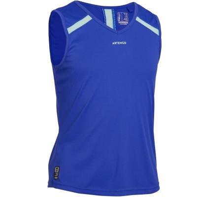 Modré dívčí tenisové tílko Artengo