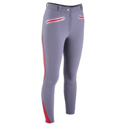 Šedé dámské jezdecké kalhoty Fouganza - velikost 46