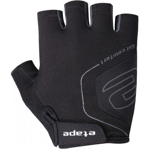 Černé pánské cyklistické rukavice Etape
