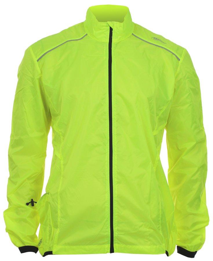 Žlutá pánská nebo dámská cyklistická bunda Avento - velikost S