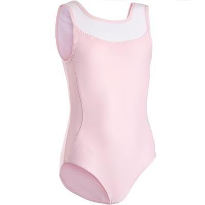 Růžový dívčí baletní trikot Domyos