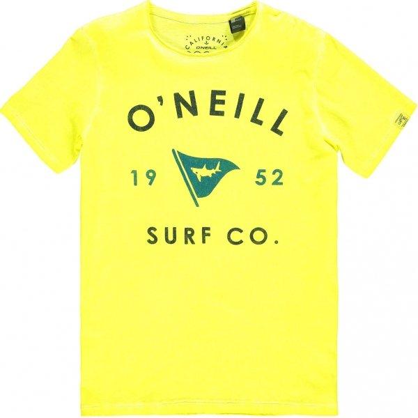 Žluté chlapecké tričko s krátkým rukávem O'Neill - velikost 128