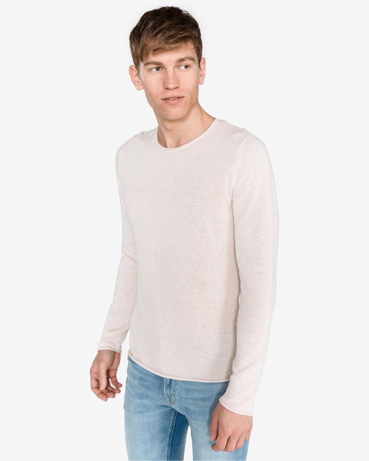 Bílý pánský svetr Jack & Jones - velikost XL