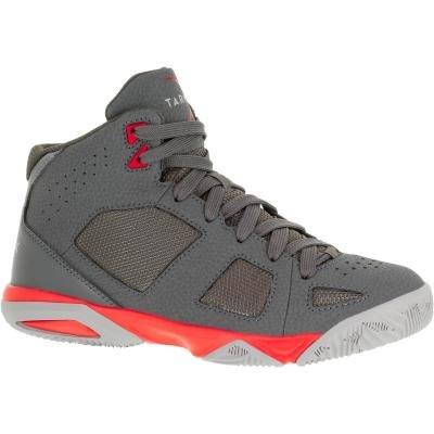 Šedé dětské basketbalové boty Strong 300, Tarmak - velikost 34 EU