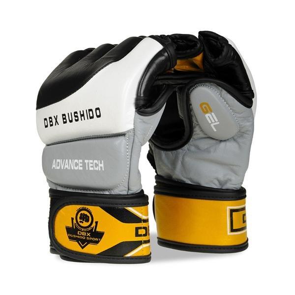 Černo-šedé MMA rukavice Bushido