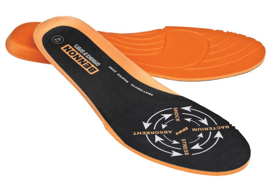 Černo-oranžové vložky do bot Bennon