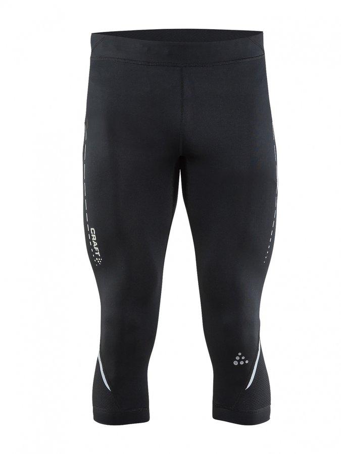 Černé 3/4 pánské běžecké kalhoty Essential Knickers, Craft - velikost M