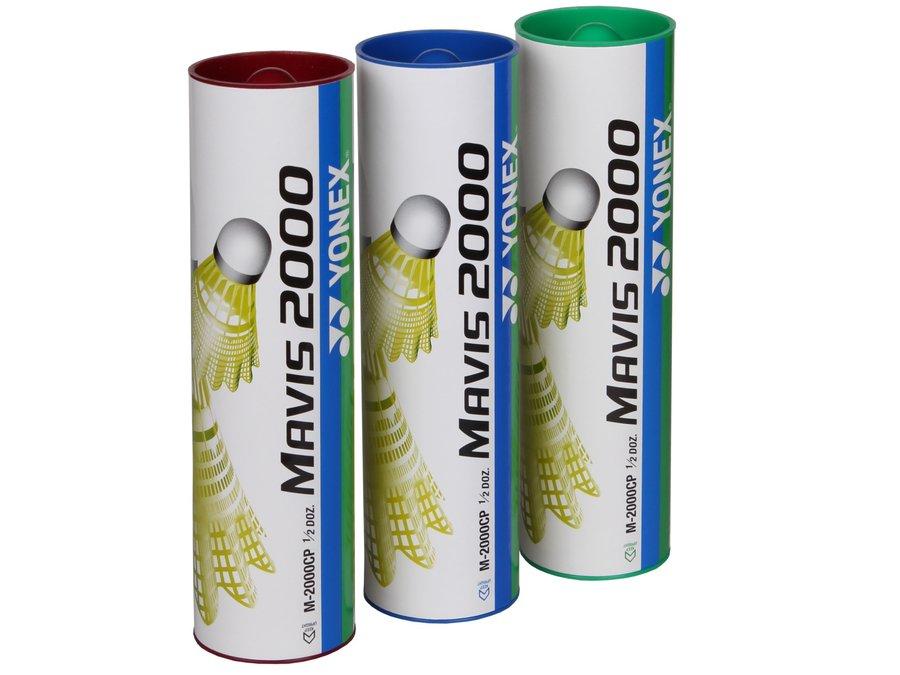 Žlutý plastový badmintonový míček Yonex - 6 ks