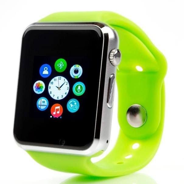 Zelené digitální chytré hodinky Squarz, Smartomat