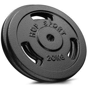 Litinový kotouč na činky Hop-Sport - 20 kg