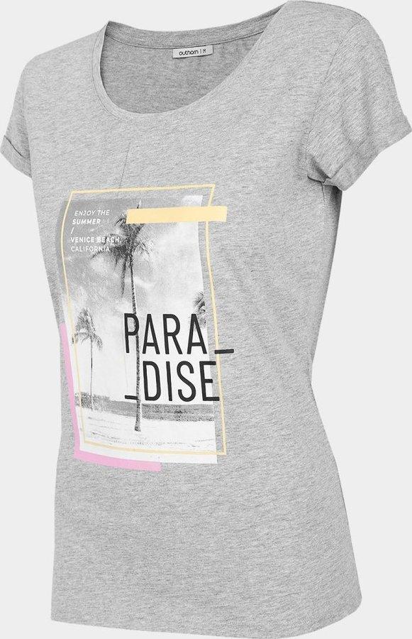 Šedé dámské tričko s krátkým rukávem Outhorn