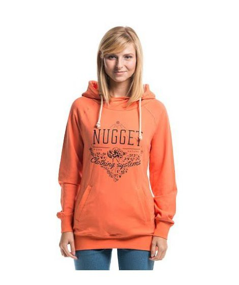 Oranžová dámská mikina Nugget - velikost S