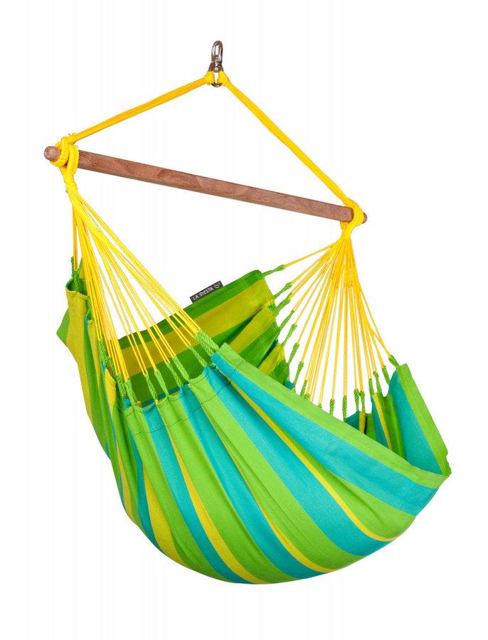 Houpací křeslo - Houpací sedačka La Siesta Sonrisa Basic Barva: zelená