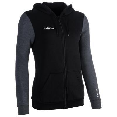Černá dámská basketbalová bunda s kapucí Tarmak