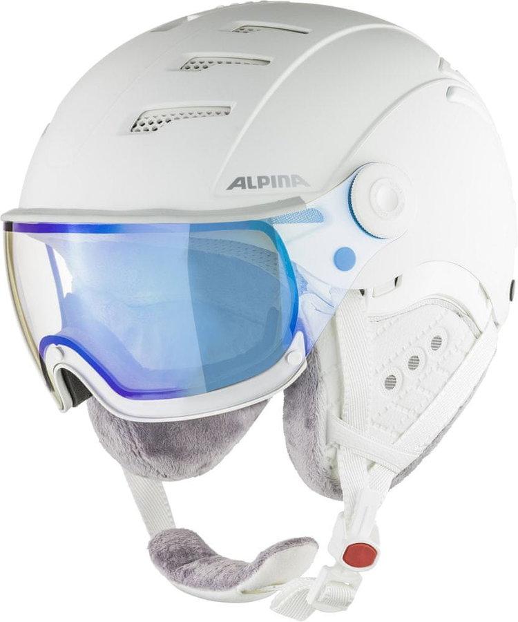 Bílá lyžařská helma Alpina Sports - velikost 55-58 cm